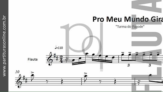 Pro Meu Mundo Girar | arranjo para Flauta e Metais