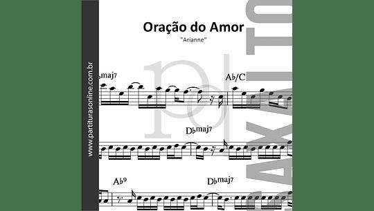 Oração do Amor | para Saxofone Alto