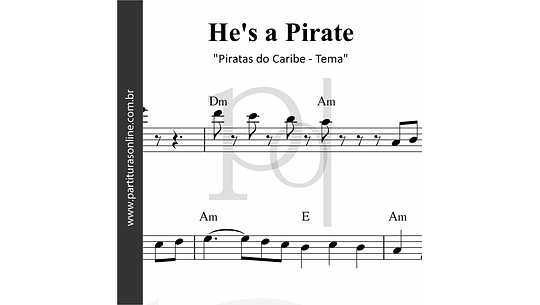 Piratas do Caribe  - Tema | He's a Pirate