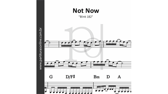 Not Now | Blink 182