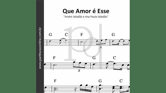 Que Amor é Esse | André Valadão e Ana Paula Valadão