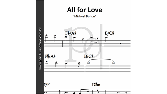 All for Love | Michael Bolton