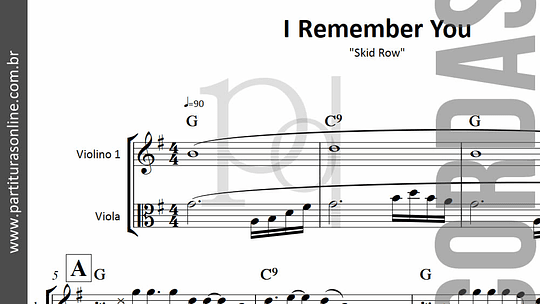 I Remember You | Viola & Violino