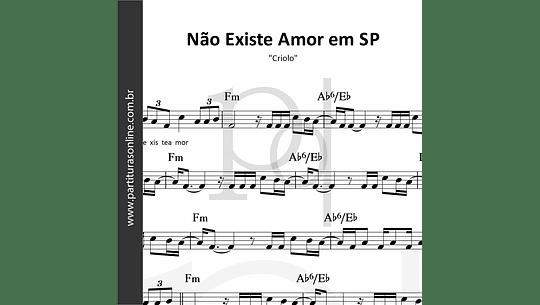 Não Existe Amor em SP   Criolo