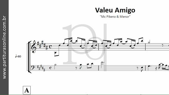Valeu Amigo   Mc Pikeno & Menor