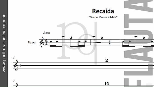 Recaída   para Flauta