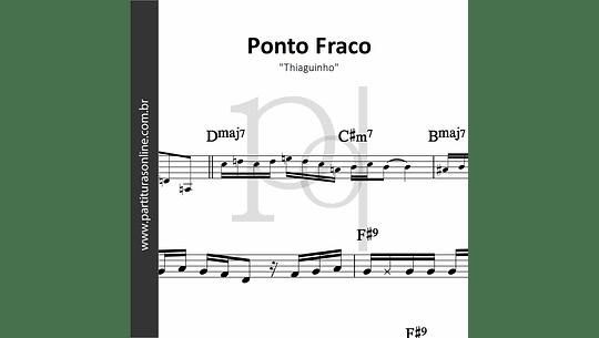Ponto Fraco | Thiaguinho