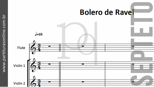 Bolero de Ravel | arranjo para Septeto