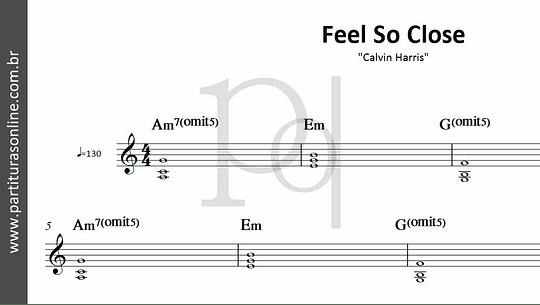 Feel So Close | Calvin Harris