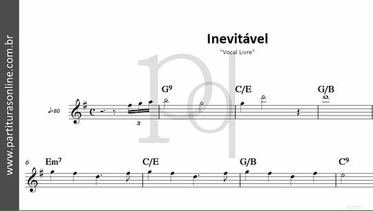 Inevitável   Vocal Livre