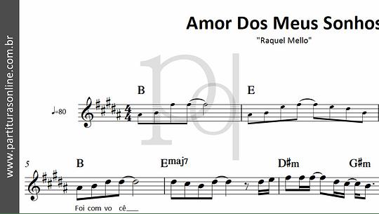 Amor Dos Meus Sonhos | Raquel Mello