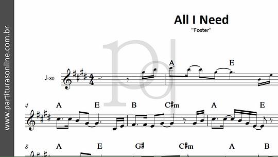 All I Need | Foster  - sob encomenda