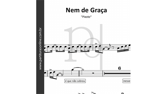 Nem de Graça | Solos Saxofone