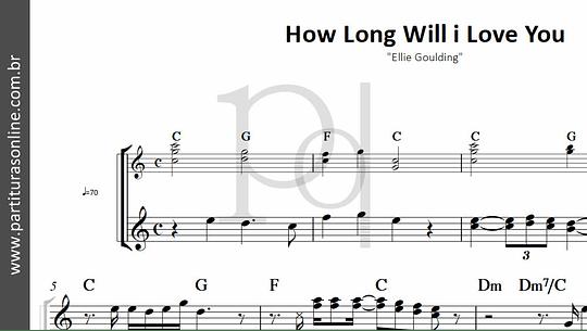 How Long Will i Love You   Ellie Goulding (POR ENCOMENDA)