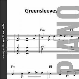 Greensleeves | para Piano e Teclado