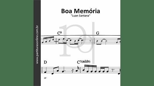 Boa Memória   Luan Santana