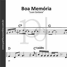 Boa Memória | Luan Santana