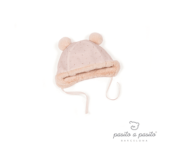 Set Gorro y Patucos Rosa - Pasito Furs