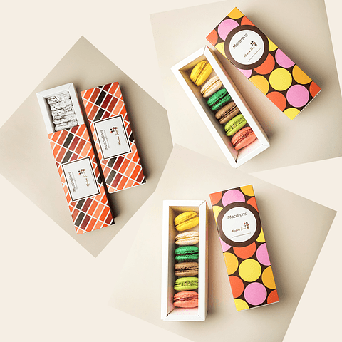 2 cajas Macarones + 1 caja Muscadines