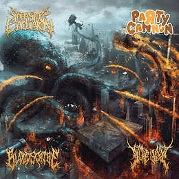 Party Cannon, Parasitic Ejaculation, Gorevent, Bloodscribe - Cannons Of Gore Soaked, Blood Drenched, Parasitic Sickness CD
