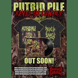 PUTRID PILE-REVEL IN LUNACY COMBOPACK LP + T-SHIRT TALLA /SIZE XL
