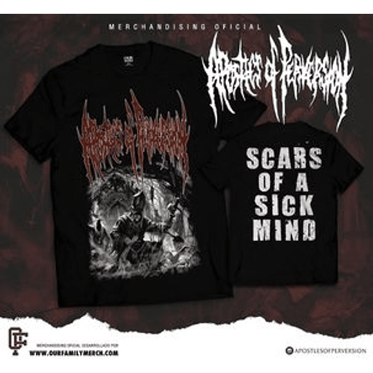 APOSTLES OF PERVERSION -  SCARS OF A...T-SHIRT SIZE L