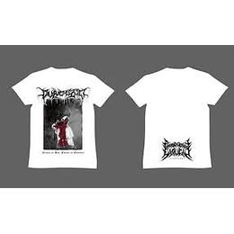PULVERIZED  WHITE  T-SHIRT S