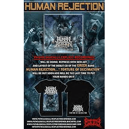 HUMAN REJECTION -TORTURE OF ...T-SHIRT S/FREE CD