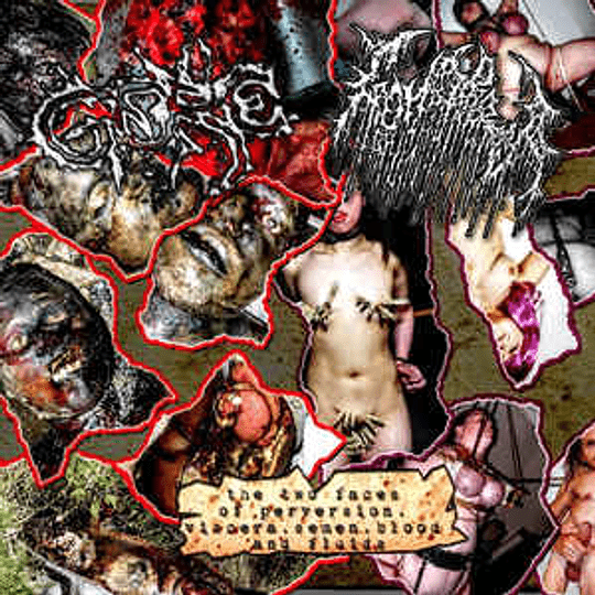 Gore  / Gonorrea – The Two Faces Of Pervertion, Viscera, Semen, Blood And Fluids CD