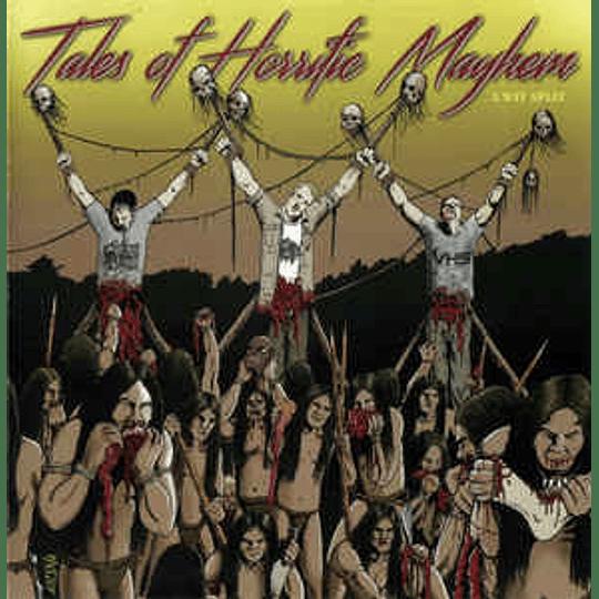 VHS  / GoreMonger / Organ Trail  – Tales Of Horrific Mayhem (3 Way Split) CD