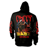 CANCER DEATH SHALL RISE  HOODED SWEATSHIRT WITH ZIP SIZE XL