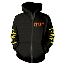 CANCER TO THE GORY END HOODED SWEATSHIRT WITH ZIP SIZE XL