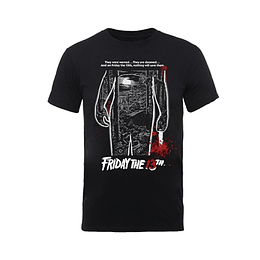 FRIDAY THE 13TH BLOODY POSTER T-SHIRT SIZE L