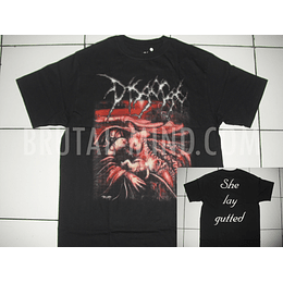 DISGORGE – She Lay Gutted T-SHIRT SIZE L