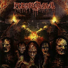 Fleshcrawl – As Blood Rains From The Sky ... We Walk The Path Of Endless Fire LP