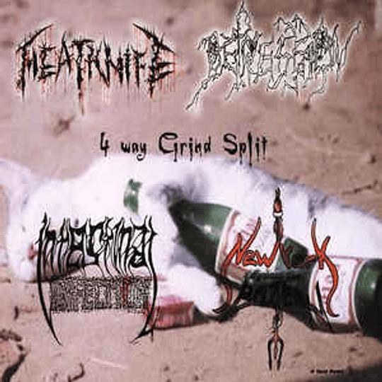 Meatknife / New York Against The Belzebu / Depression / Intestinal Infection – 4 Way Grind Split CD
