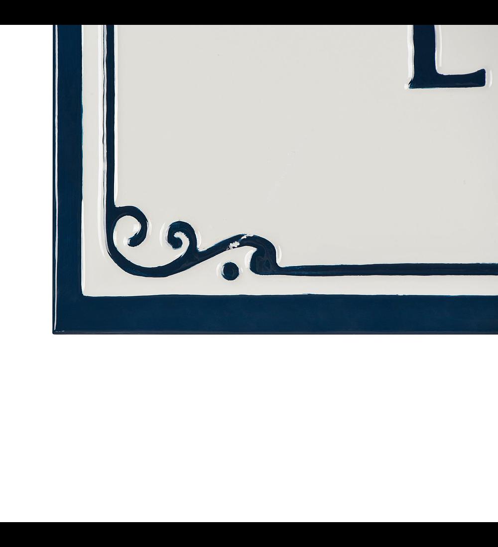 Letrero lavandería esmaltado