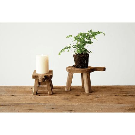 Pedestales de madera