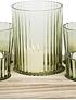 Bandeja porta velas verde