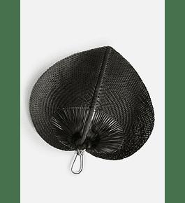 Abanico fibra negro XL