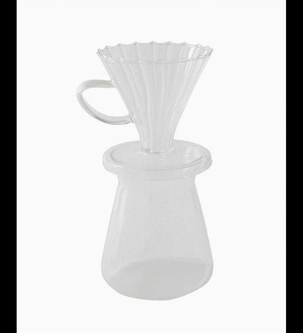 Set decantador café vidrio