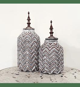 Vasija cerámica gris