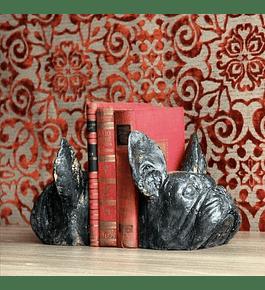 Sujeta libros perro resina