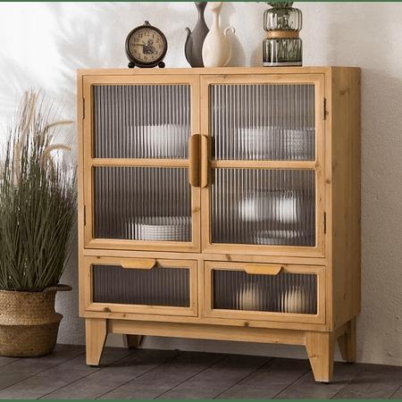 Vitrina madera vidrio