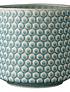 Macetero polka dots celeste