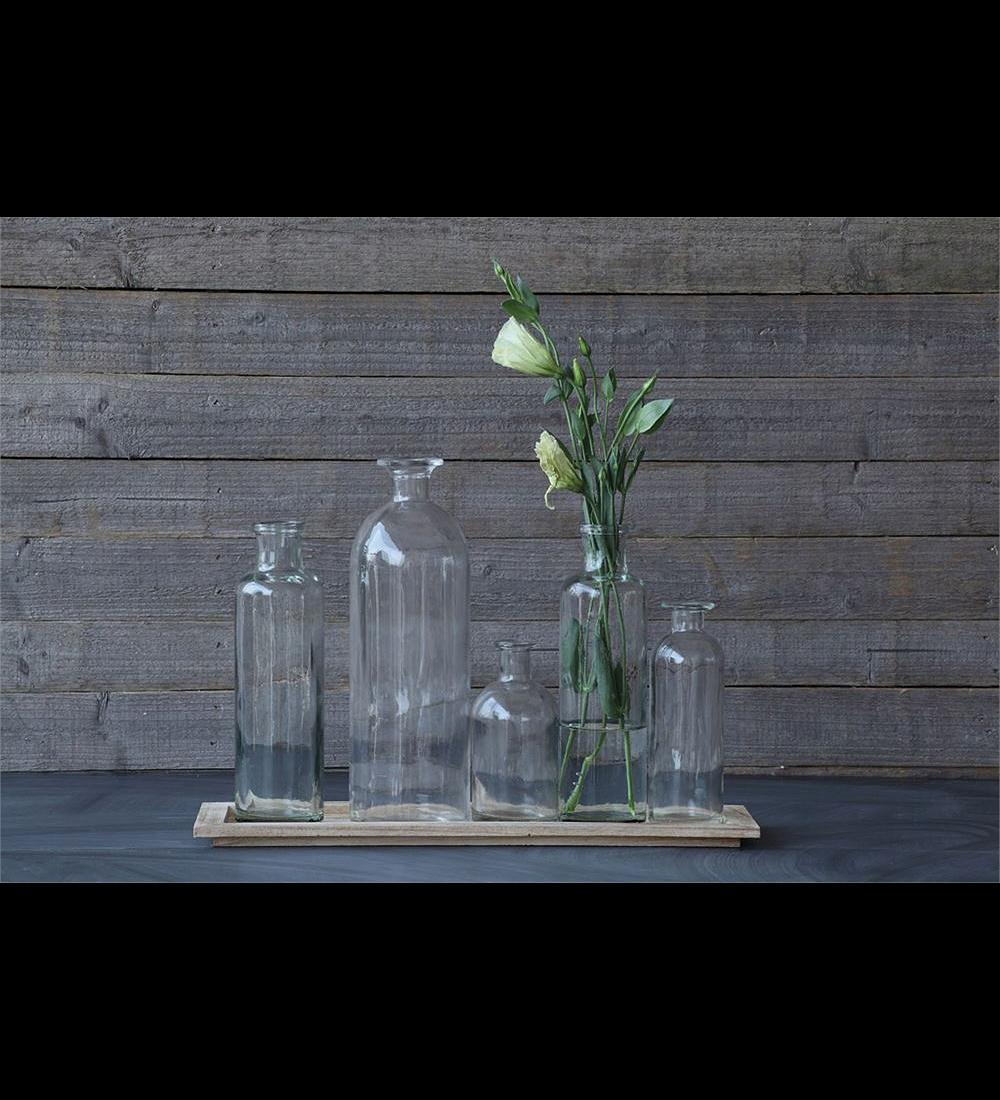 Bandeja floreros vidrio