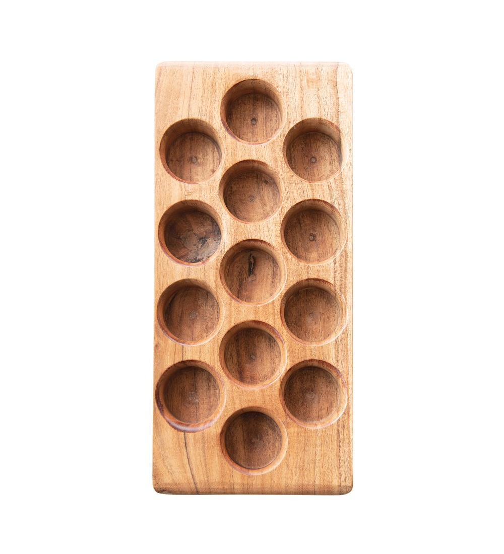 Porta huevos madera