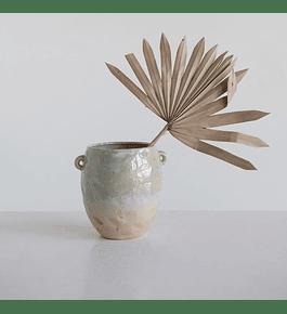 Vasija verde cerámica