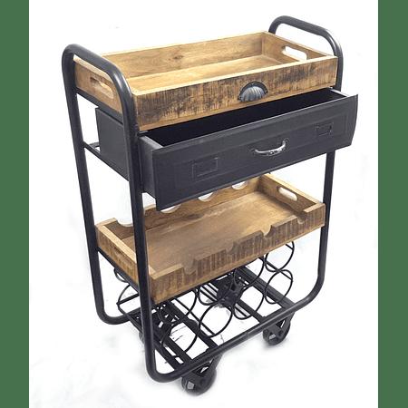 Carro bar fierro y madera