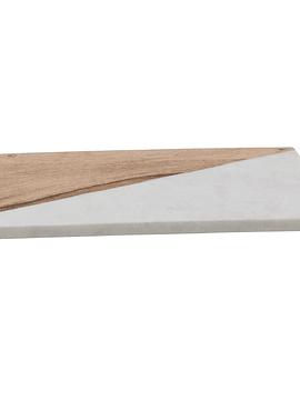 Tabla madera mármol bronce